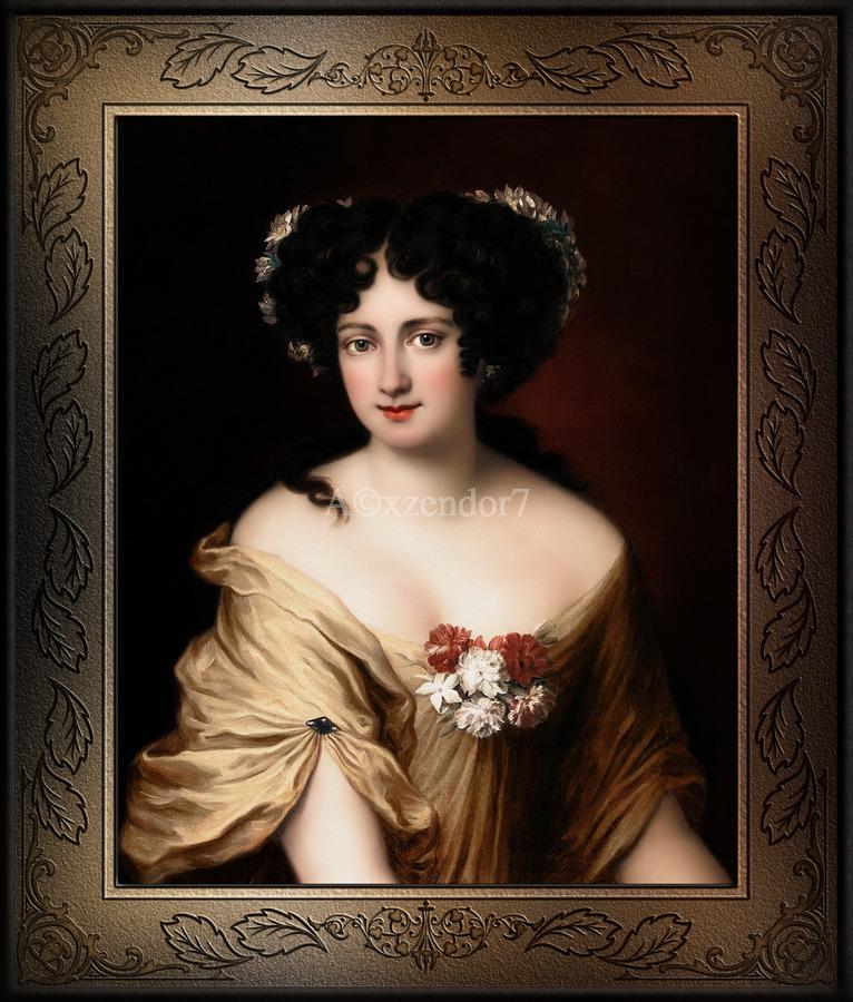 Portrait of Contessa Ortensia Ianna Stella by Jacob Ferdinand Voet Classical Fine Art Xzendor7 Old Masters Reproductions  Print