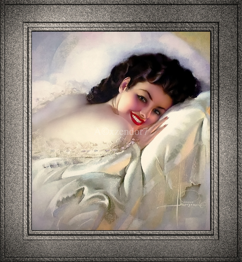 Sweet Dreams by Rolf Armstrong Vintage Illustration Xzendor7 Art Reproductions  Print