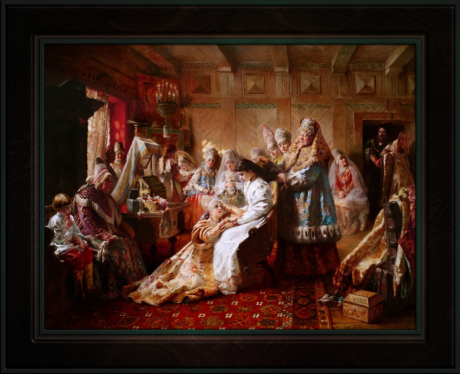 The Russian Brides Attire by Konstantin Makovsky Classical Fine Art Xzendor7 Old Masters Reproductions  Print