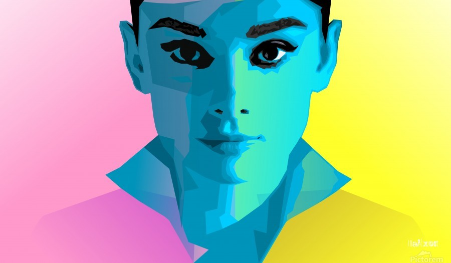 Pop Art Audrey Portrait  Print