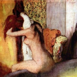 After bathing 2 by Degas  Print