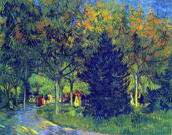 Allee in the Park by Van Gogh  Print