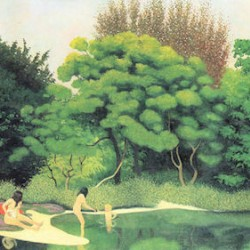 Bathers in the woods by Felix Vallotton  Print