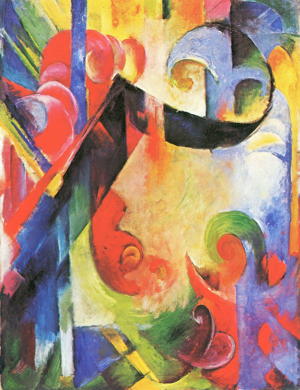 Broken Forms by Franz Marc  Print