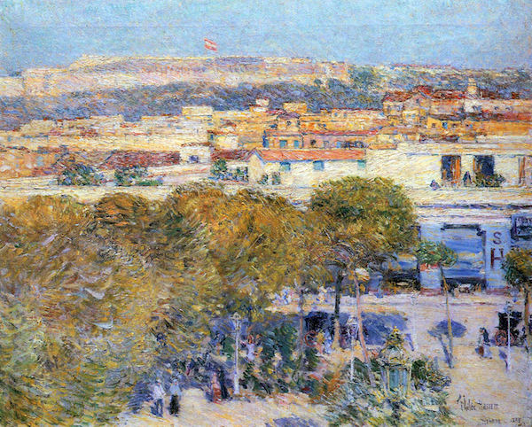 Central Place and Fort Cabanas, Havana by Hassam  Print