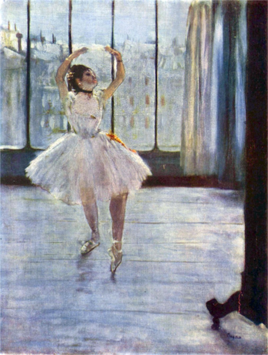 Dancer being photographed by Degas  Print
