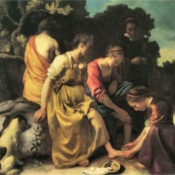 Diana and her nymphs by Vermeer  Print