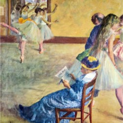 During the dance lessons - Madame Cardinal by Degas  Print
