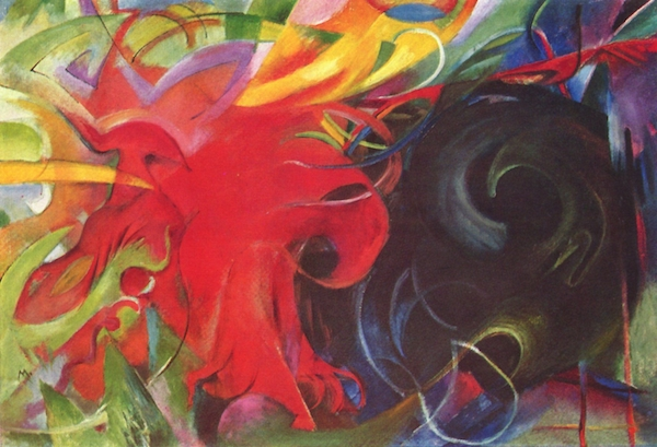 Fighting forms by Franz Marc  Print