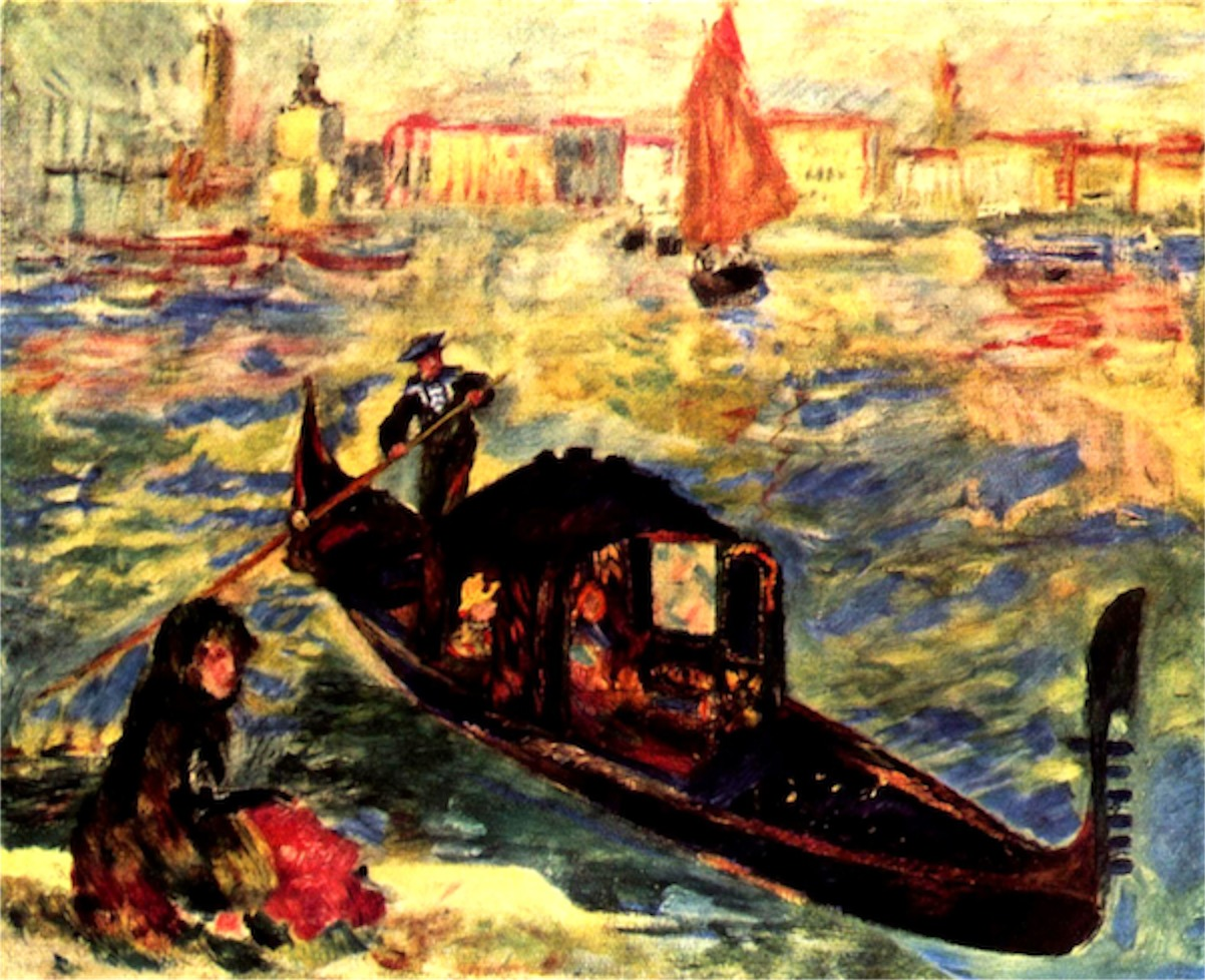 Gondola on the Canale Grande  Print
