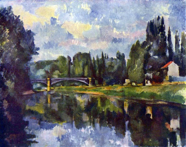 Marne Shore by Cezanne  Print
