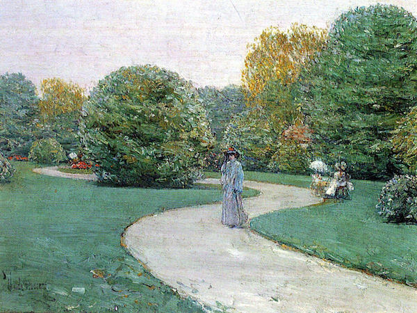 Parc Moneceaux, Paris by Hassam  Print