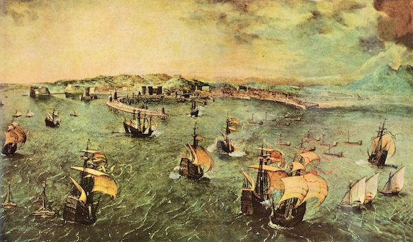 Port of Naples by Pieter Bruegel  Print