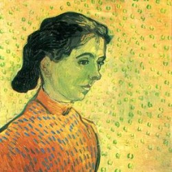 Portrait of a girl by Van Gogh  Print