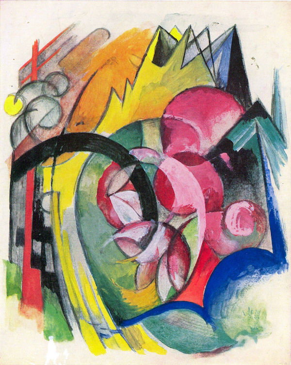 Small composition II by Franz Marc  Print