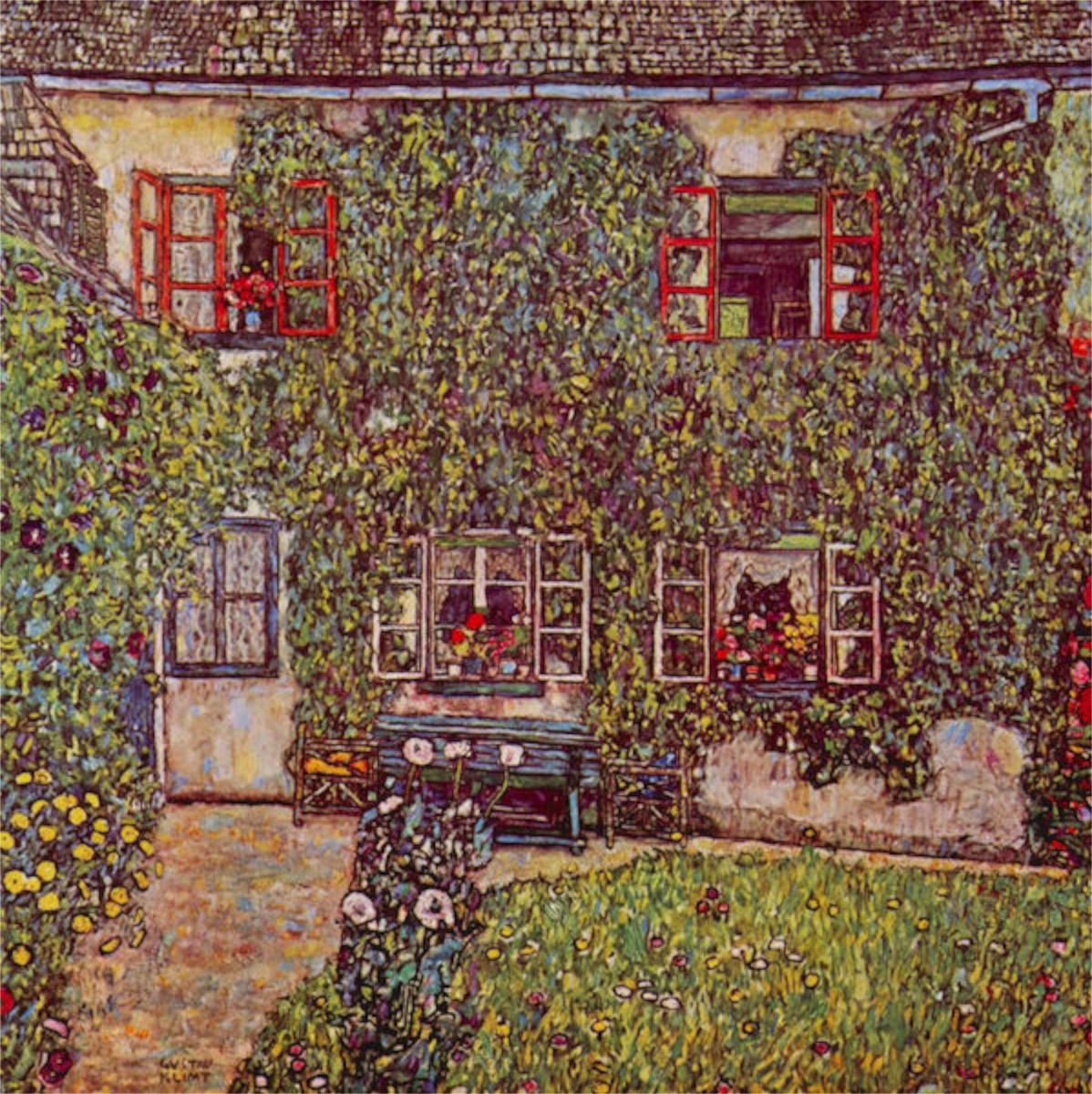 The House of Guard by Klimt  Print