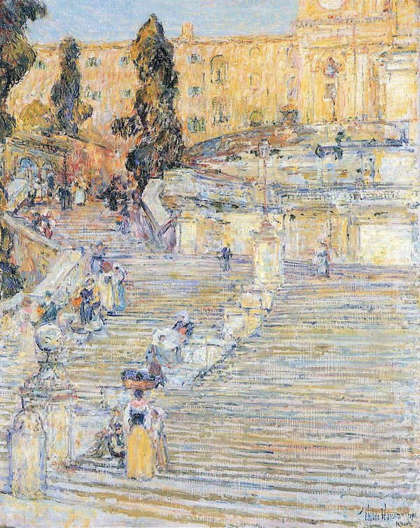 The Spanish steps by Hassam  Print