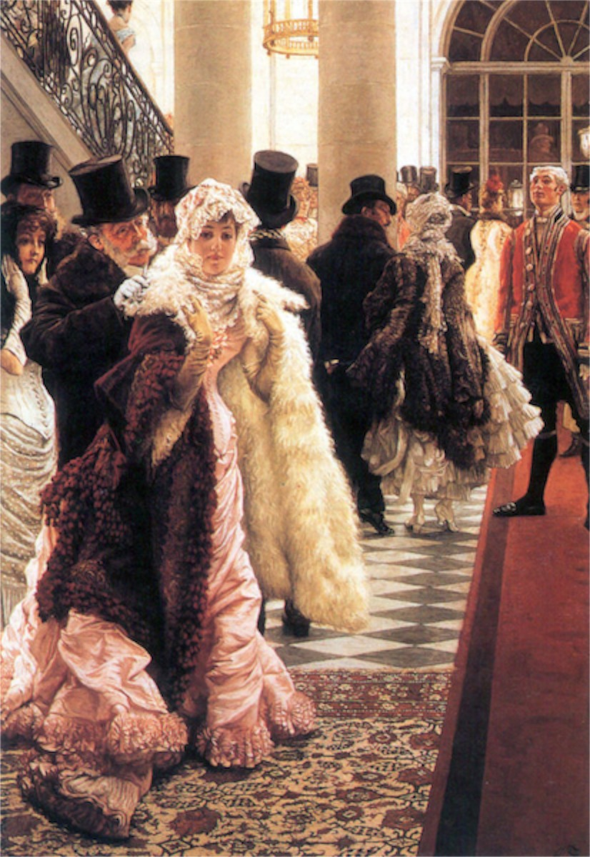 The fashionable woman by Tissot  Print