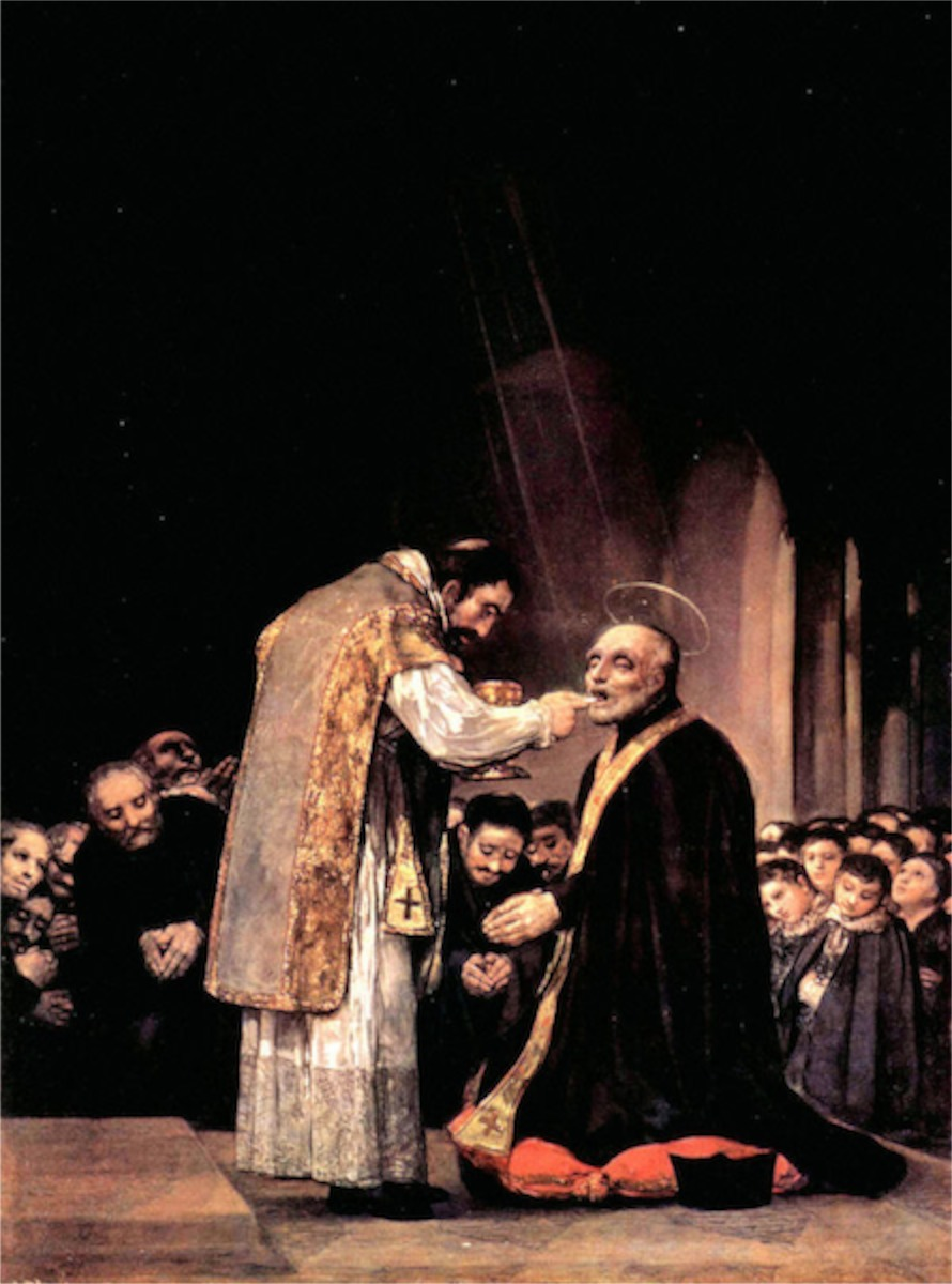 The last communion of St. Joseph of Calasanza by Goya  Print