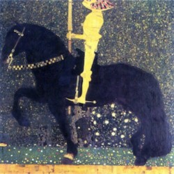 The life of a struggle (The Golden Knights) by Klimt  Print