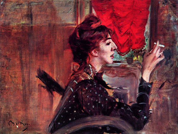 The red curtain by Giovanni Boldini  Print