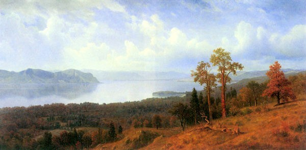 View of the Hudson River Vally by Bierstadt  Print