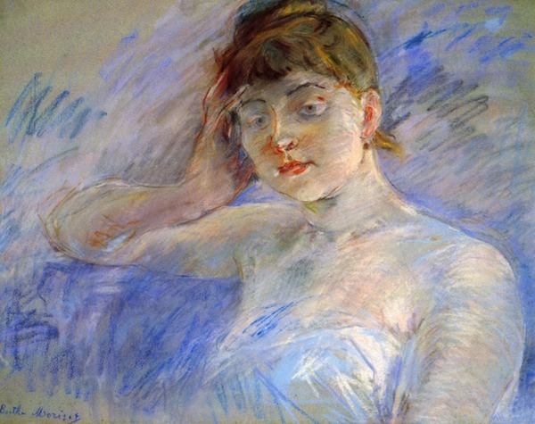 Young woman in white by Morisot  Print