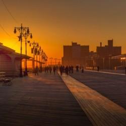 Sunset over the boardwalk