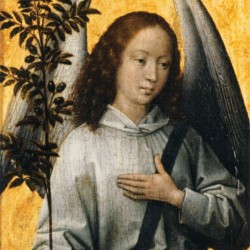Angel with an Olive Branch Emblem of Divine Peace