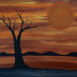 Ares tree acrylic painting