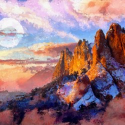 Colorado Mountains - Digital Painting III