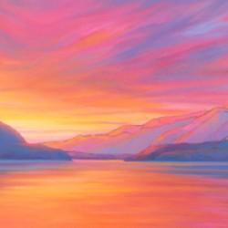 Muncho Lake Sunset
