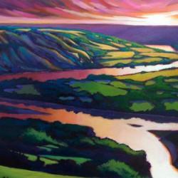 Peace River Setting Sun