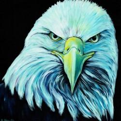 bald eagle head painting