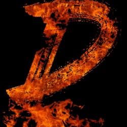Burning on Fire Letter D