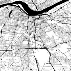 Louisville USA Map