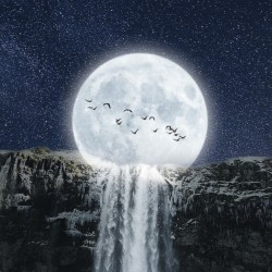 Moon Waterfall Fantasy