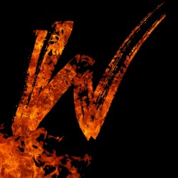 Burning on Fire Letter W