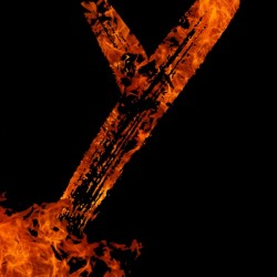 Burning on Fire Letter Y