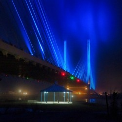 Foggy Night at the Indian River Bridge