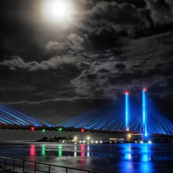 Blood Moon over the Indian River Bridge
