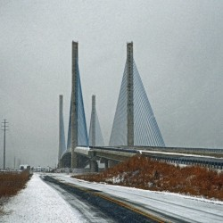 Winter at the Indian River Inlet Bridge