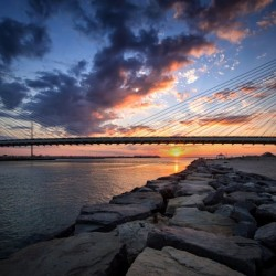 Indian River Inlet And Bay Sunset