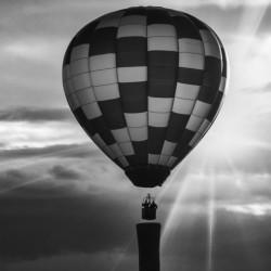Hot Air Balloon On A Smokestack