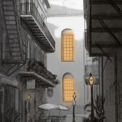 Light in the alley a French quarter scene