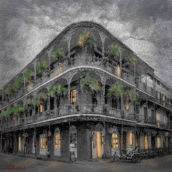 The LaBranche House - French Quarter scene drawing