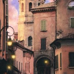 Italy villa street scene
