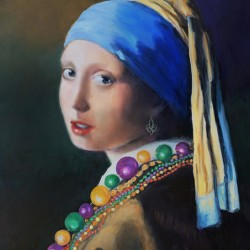Girl with the Mardi Gras Beads