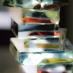 Glass blocks colours vertical