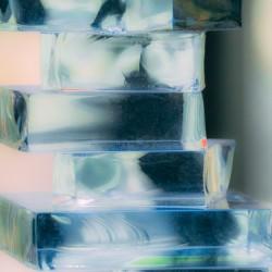 Glass blocks vertical